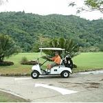 The scenery on the golf course in Borneo was lovely
