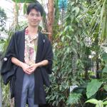 Me inside the main glasshouse of Koishikawa Botanical Gardens