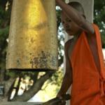 Novice Monk Ringing Temple Bells