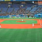 The field at the Kyocera Baseball Dome.