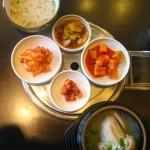 samgyetang  - served with some typical banchan