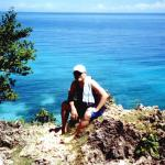 On top of a cliff in Maria, Siquijor