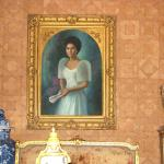 Portrait of former First Lady Imelda Marcos inside the Sto. Niño Shrine and Heritage Museum