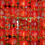 Chinese lanterns inside Bangkok mall