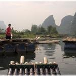 Pontoon bridge on Yulong River