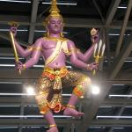 Sculpture of Hindu God, Vishnu, the Preserver of All Things, inside Bangkok's Suvarnabhumi International Airport