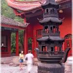 Inside the temple of Qianling Park (Guiyang, Guizhou province)