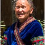 Cheerful Miao woman (Langde village, prefecture Qian Dong Nan, Guizhou province)