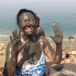 Covered with Dead Sea Mud.