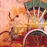 A trishaw in Chinatown, Melaka, Malaysia.