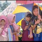Girls in Kampung near Melaka.