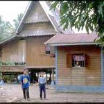 Bumbung panyang kampung Seriminyak, Serkam Panthai, Melaka.