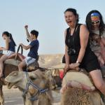Camel riding at a Bedouin camp in the Negev Desert