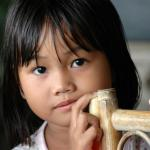 A young girl from Mindanao.