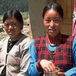 Two young Thakuri women at a lodge in Simikot, NW Nepal.