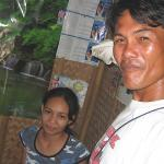 Joe our Boracay tour guide and his wife Imi