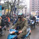 The streets of Hanoi are clogged with traffic