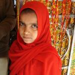 A young pilgrim at the Dargah.
