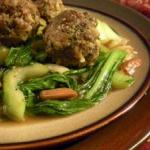 Laura Kelley's Almond Meatballs in a Sweet Ginger Sauce from her cookbook series The Silk Road Gourmet