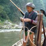 Zhou de Li prepares his ropes