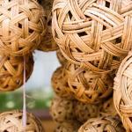 Rattan balls used for sepak takraw