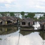 Homes on Lake Tonle Sap