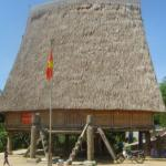 A traditional Bahnar house in Kon Tum.