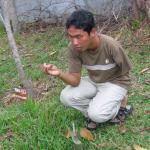 Khom explains how the land mines work