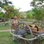 Khom with a cart much like the one on which his family was killed