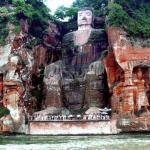 Leshan Giant Buddha is located at the insection of Min River, Qingyi River and Dadu River. It's carved on the cliff of Mt.Lingyunshan to the north of Min River.