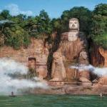 Leshan Giant Buddha is the biggest rock statue of sitting Buddha in the world, one of the fine works of Tang rock carving.