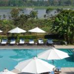 View from Room 413, pool with Perfume River
