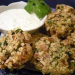 Israeli Fish Cakes with Yogurt Dipping Sauce