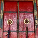 2. Brightly painted doors of the Hemis monastery catch your attention in an otherwise bleak landscape.