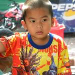 Child on the streets of Bangkok