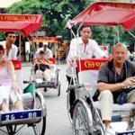 Cyclos in Hanoi, Vietnam