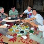 Diner chez les Thais a Maichau - Vietnam.