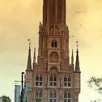 The Domtoren (replica of the one in Utrecht) towers over the Town Hall
