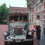 A vintage Bentley taxi ferries takes guest to and from Hotel Europe