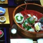 This eclectic assortment of serving dishes goes to show that everything on a Japanese table doesn't have to match.