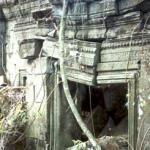 A broken Beng Mealea window frame, Siem Reap, Cambodia.