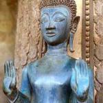 Buddha image at Ho Phra Keo, Vientiane.