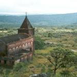A view of Bokor from behind the abandoned church in Bokor National Park, Cambodia.