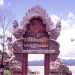 Golden Triangle welcome sign.