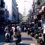 Traffic on Tran Hung Dao street, Cholon, Vietnam.