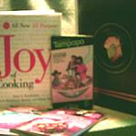 The Joy of Cooking, Cooking of Japan, Quick & Easy Sushi & Sashimi, Japanese Homestyle Cooking, and Juzo Itami's Tampopo.