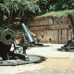 American 12-inch mortars at Battery Way.
