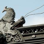 Detail of roof, Da Cheng gate, Confucius temple.