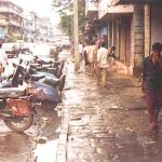 """Bombay, India. Off to the right are the fronts of the brothels of Bombay's """"red-light district"""" Kamatipura, setting of the Mira Nair film Salaam, Bombay!"""