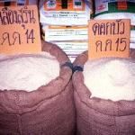 Thailand's staple grain, rice, dominates the fresh market's fare.